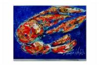 Carolines Treasures  MW1155PLMT Craw Momma Crawfish Fabric Placemat - Large