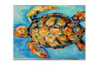 Carolines Treasures  MW1150PLMT Sand Dance Turtle Fabric Placemat