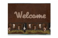 Carolines Treasures  SB3058PLMT Welcome Mat with Cows Fabric Placemat