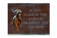 Roper Horse If you climb in the saddle, be ready for the ride Fabric Placemat