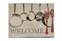 Carolines Treasures  SB3087PLMT Pots and Pans Welcome Fabric Placemat - Large