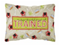 My Dog's not spoiled I'm just well trained   Canvas Fabric Decorative Pillow