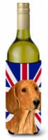 Dachshund with English Union Jack British Flag Wine Bottle Beverage Insulator Hu - 750 ml