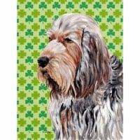 Otterhound Lucky Shamrock St. Patrick's Day Flag Canvas House Size