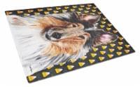 Collie Candy Corn Halloween Glass Cutting Board Large Size - 12Hx15W