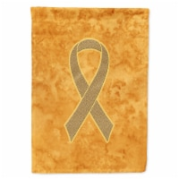 Peach Ribbon for Uterine Cancer Awareness Flag Canvas House Size - House Size