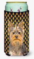 Candy Corn Halloween Yorkie / Yorkshire Terrier Tall Boy Beverage Insulator Hugg - Tall Boy