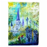Across the Square St Louis Cathedral Flag Garden Size - Garden Size