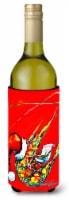 Happy Holidays Shrimp Wine Bottle Beverage Insulator Hugger - 750 ml