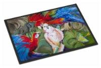 Menage-a-trois Parrots Indoor or Outdoor Mat 18x27 - 18Hx27W