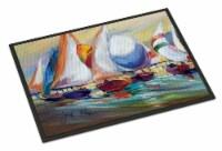 Sailboat Race in Dauphin Island Indoor or Outdoor Mat 18x27
