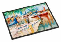 Sailboats at the Gazebo Indoor or Outdoor Mat 18x27