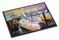 Sailboats at the Fairhope Yacht Club Docks Indoor or Outdoor Mat 24x36 - 24Hx36W
