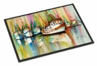 Carolines Treasures  JMK1074JMAT Shrimp Fleet Indoor or Outdoor Mat 24x36 - 24Hx36W