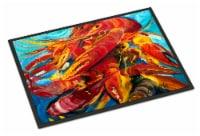 Carolines Treasures  JMK1117JMAT Crawfish Indoor or Outdoor Mat 24x36 - 24Hx36W