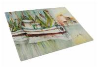 Carolines Treasures  JMK1068LCB Ocean Springs Shrimper Glass Cutting Board Large - 12Hx15W