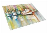 Carolines Treasures  JMK1074LCB Shrimp Fleet Glass Cutting Board Large - 12Hx15W