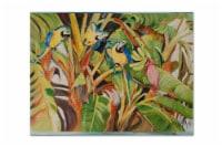 Carolines Treasures  JMK1010PLMT Three Blue Parrots Fabric Placemat - Large