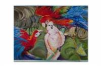 Carolines Treasures  JMK1018PLMT Menage-a-trois Parrots Fabric Placemat - Large