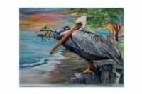 Carolines Treasures  JMK1021PLMT Pelican view Fabric Placemat - Large