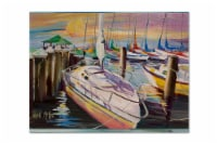 Sailboats at the Fairhope Yacht Club Docks Fabric Placemat