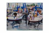 Carolines Treasures  JMK1054PLMT Sailboats Fabric Placemat