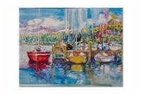 Carolines Treasures  JMK1063PLMT Paradise Yacht Club Sailboats Fabric Placemat - Large