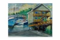Carolines Treasures  JMK1069PLMT Ocean Springs Harbour Landing Fabric Placemat - Large