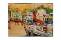Carolines Treasures  JMK1082PLMT Sunset Bay Sailboat Fabric Placemat