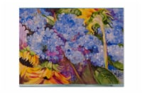 Carolines Treasures  JMK1119PLMT Hydrangeas and Sunflowers Fabric Placemat