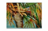 Carolines Treasures  JMK1129PLMT Orange Top Palm Tree Fabric Placemat - Large