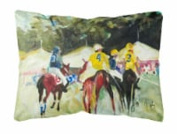 Polo at the Point Canvas Fabric Decorative Pillow - 12Hx16W