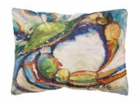 Carolines Treasures  JMK1091PW1216 Blue Crab Canvas Fabric Decorative Pillow