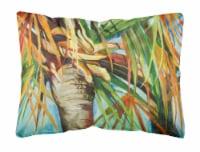 Orange Top Palm Tree Canvas Fabric Decorative Pillow - 12Hx16W