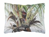Carolines Treasures  JMK1130PW1216 Top Palm Tree Canvas Fabric Decorative Pillow - 12Hx16W