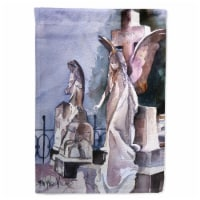 Angels in the Cemetary with Cross Flag Garden Size