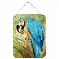 Carolines Treasures  JMK1147DS1216 Blue Parrots Wall or Door Hanging Prints - 16HX12W