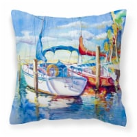 Towering Q Sailboats Canvas Fabric Decorative Pillow