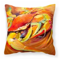 Carolines Treasures  JMK1250PW1414 Crab Spice Canvas Fabric Decorative Pillow