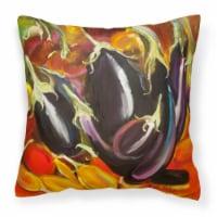 Carolines Treasures  JMK1260PW1414 Eggplant Canvas Fabric Decorative Pillow - 14Hx14W