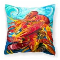 Carolines Treasures  JMK1264PW1414 Crawfish Canvas Fabric Decorative Pillow - 14Hx14W