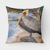 Carolines Treasures  JMK1218PW1818 Pelican Bay Canvas Fabric Decorative Pillow - 18Hx18W