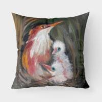 Carolines Treasures  JMK1224PW1818 Happy Family Canvas Fabric Decorative Pillow