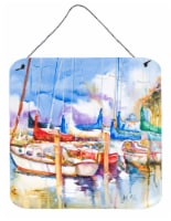 Carolines Treasures  JMK1233DS66 Runaway Sailboats Wall or Door Hanging Prints - 6HX6W