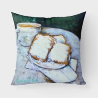 Beingets Breakfast Delight Canvas Fabric Decorative Pillow