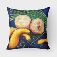 Crooked Neck Squash Canvas Fabric Decorative Pillow