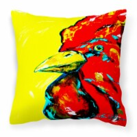 Rooster Big Head Canvas Fabric Decorative Pillow