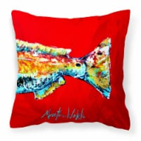 Red Fish Alphonzo Tail Canvas Fabric Decorative Pillow