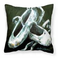 Ballet Golden Toes Canvas Fabric Decorative Pillow - 14Hx14W