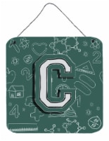 Letter C Back to School Initial Wall or Door Hanging Prints - 6HX6W